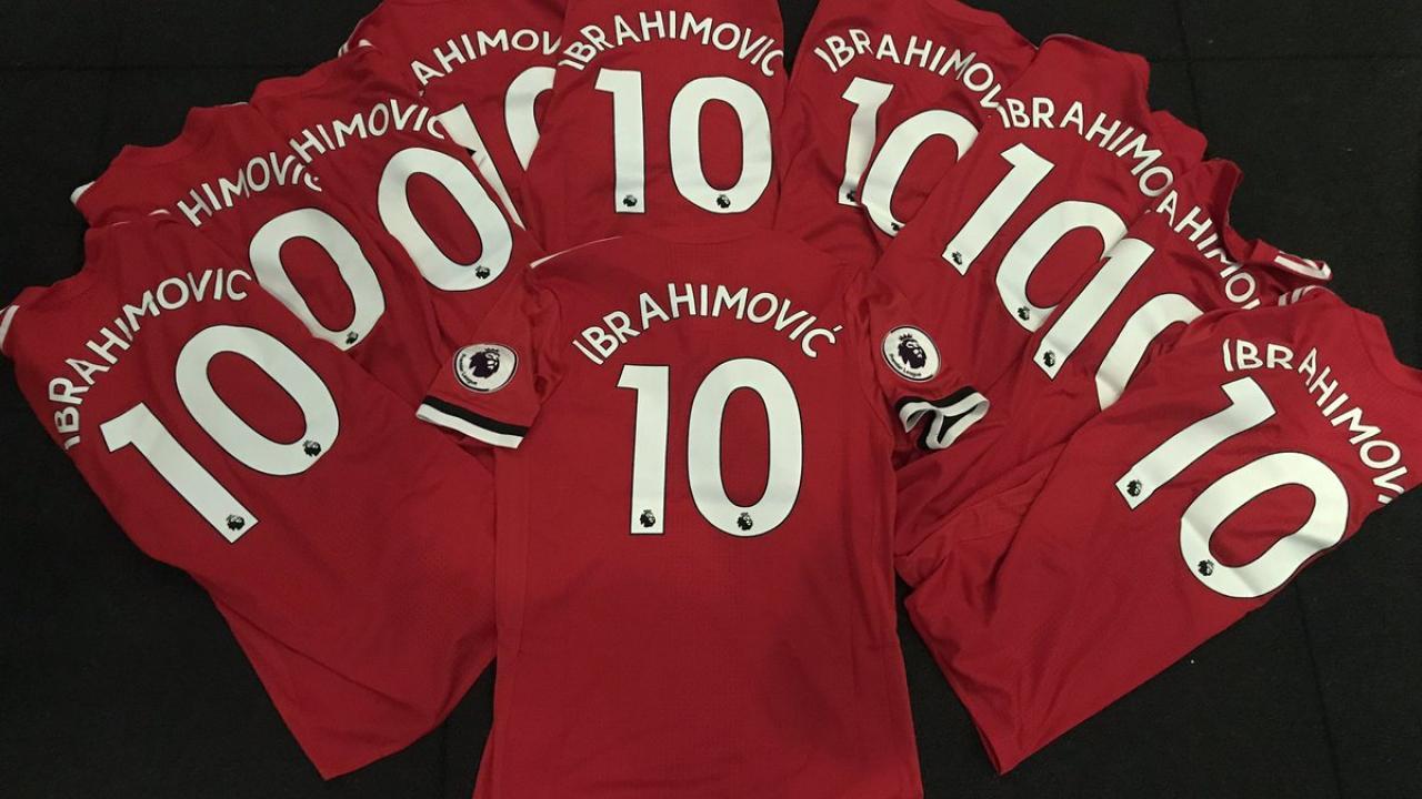 Zlatan Ibrahimovic New Manchester United Number