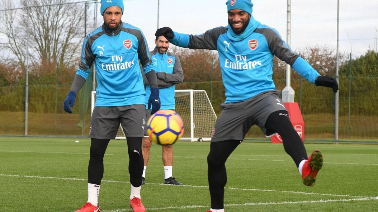Alexandre Lacazette In Arsenal Training