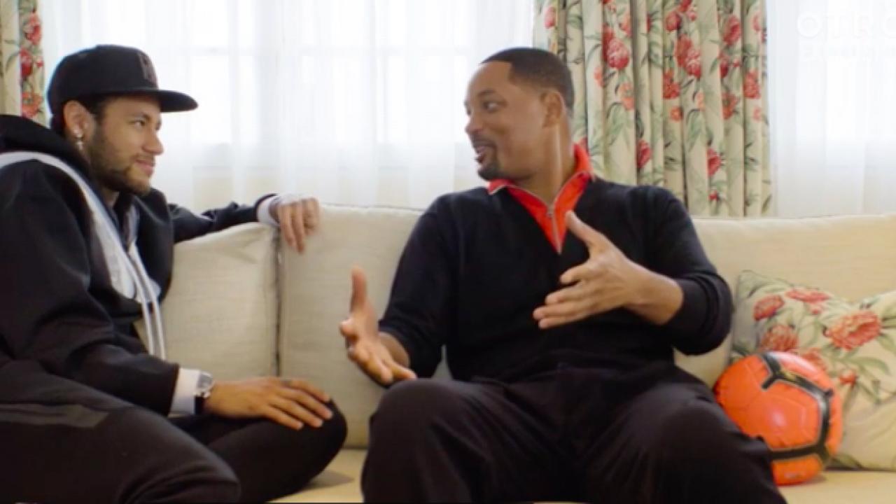Neymar meets Will Smith