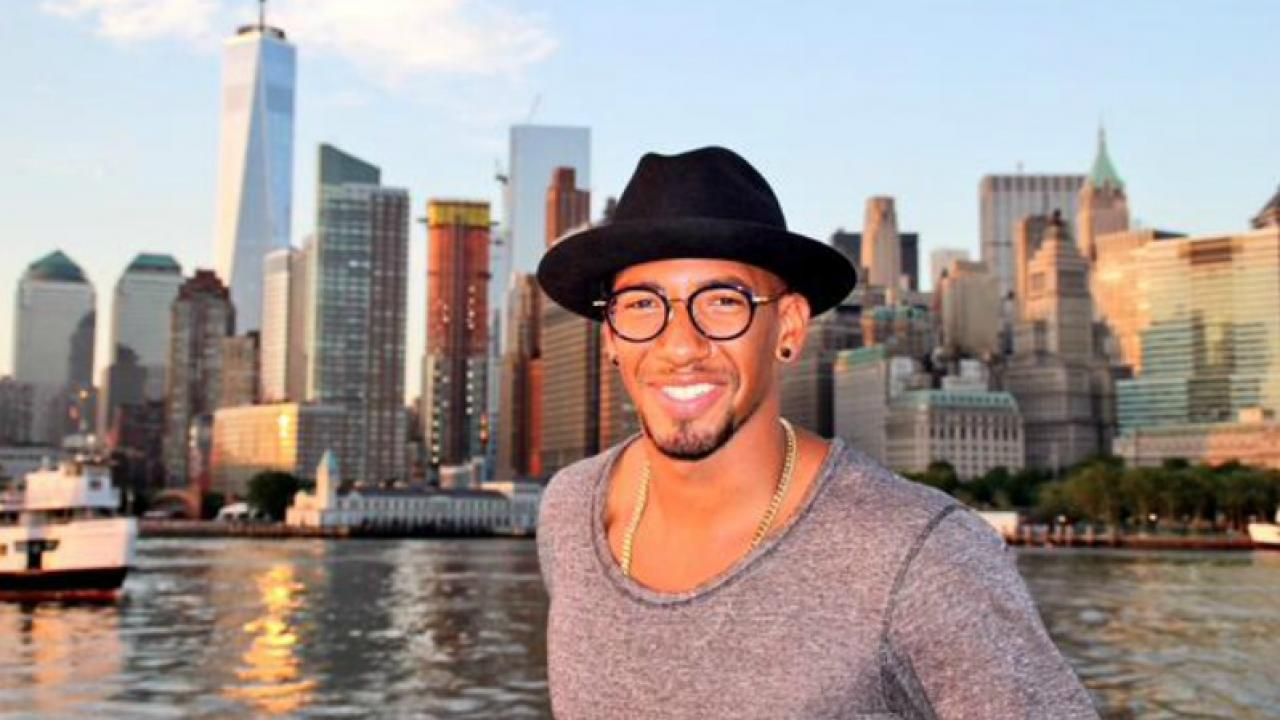 Boateng arrives in New York