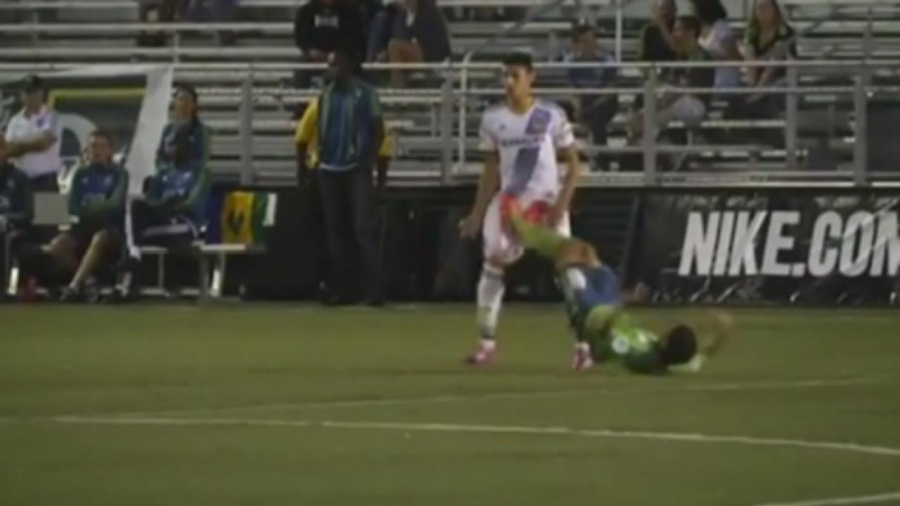 Seattle Sounders 2 red card