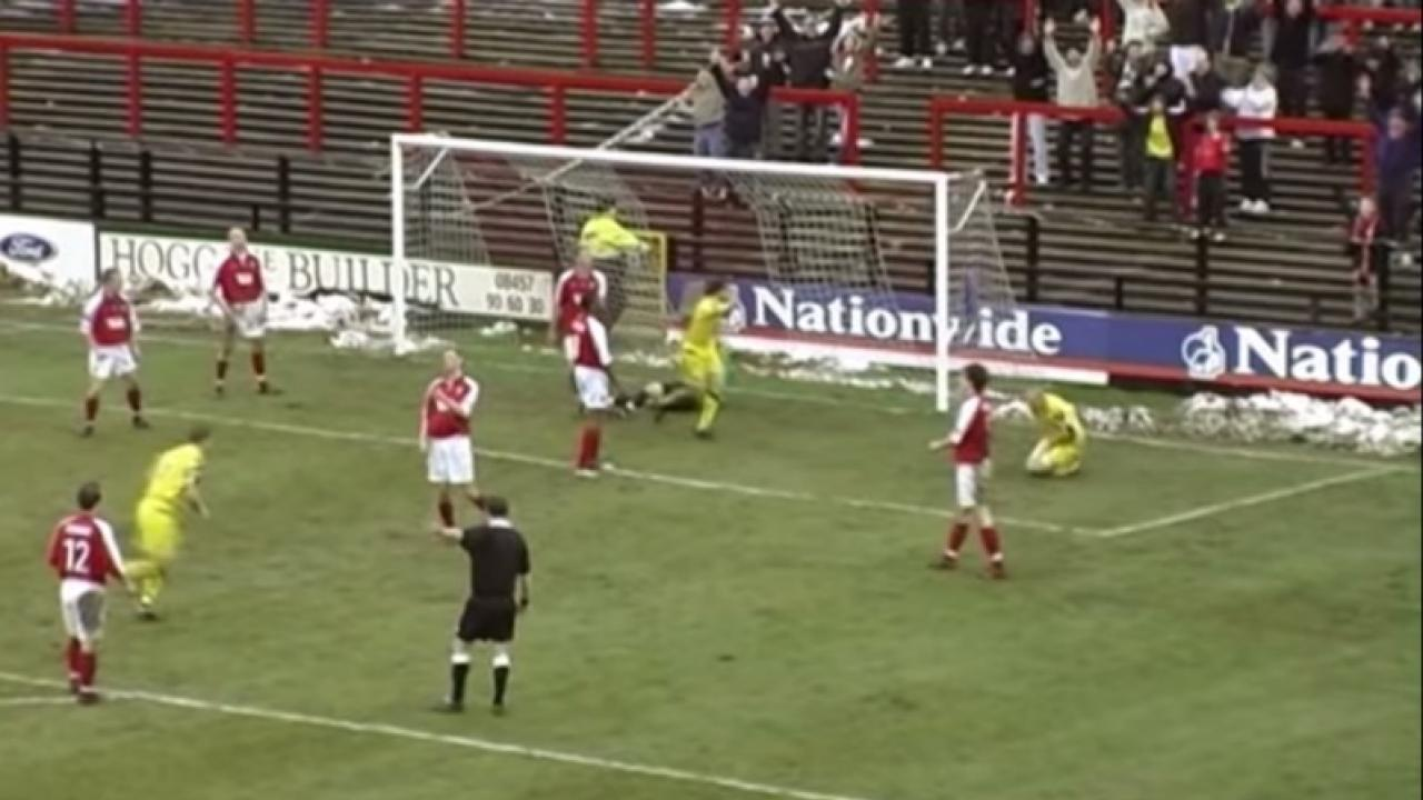 Wayne Curtis Scores This Goal With His Crotch