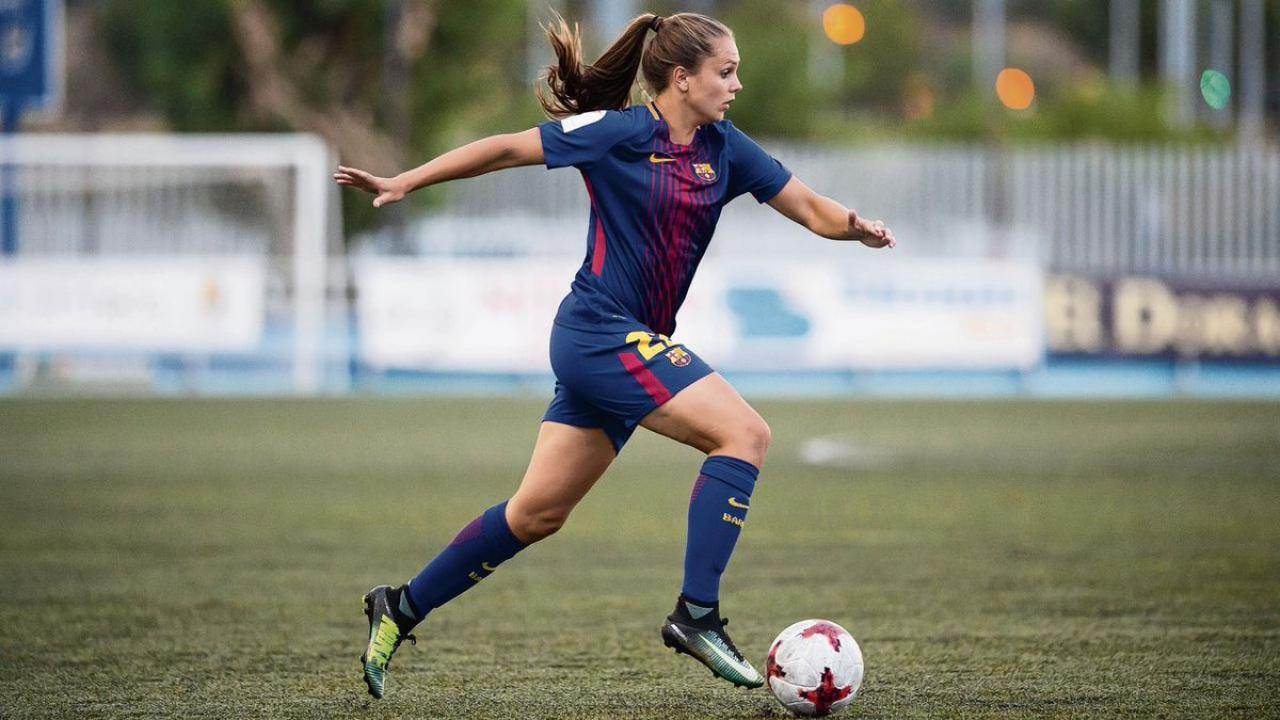 FC Barcelona women's team dominating opponents.
