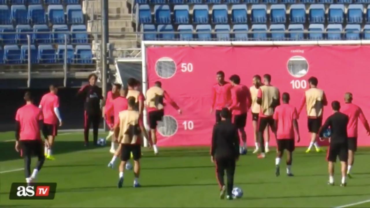 Sergio Ramos training ground fight