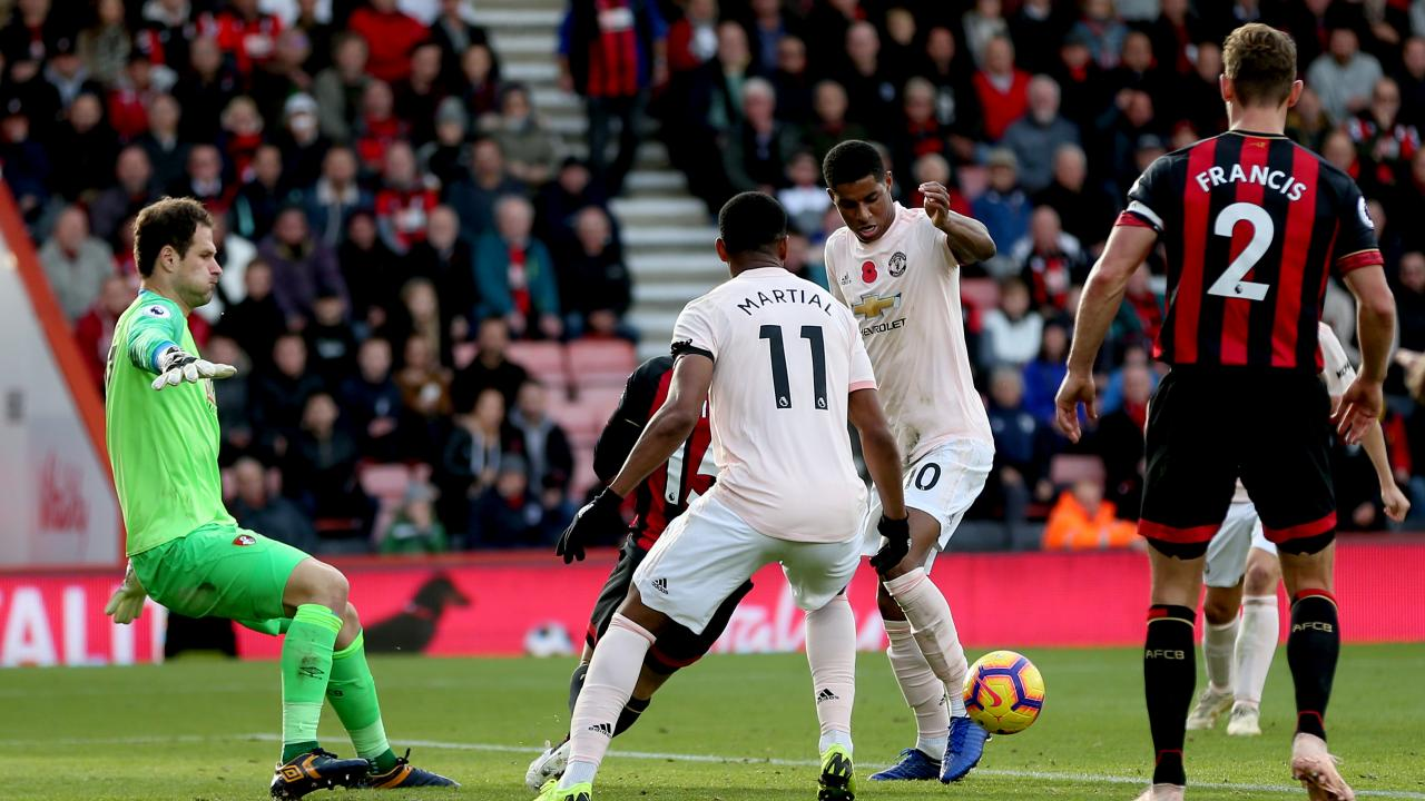 Marcus Rashford Goal vs Bournemouth