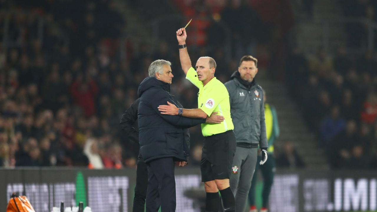 Jose Mourinho Yellow Card