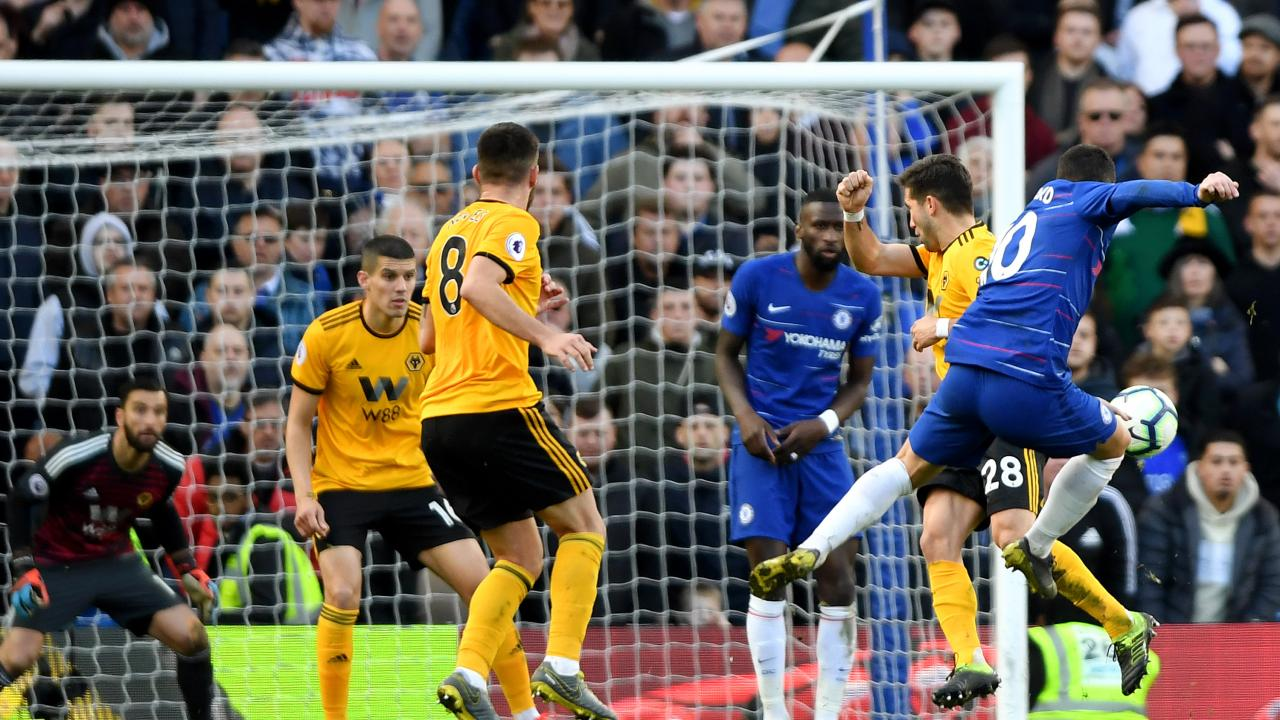Eden Hazard goal vs Wolves