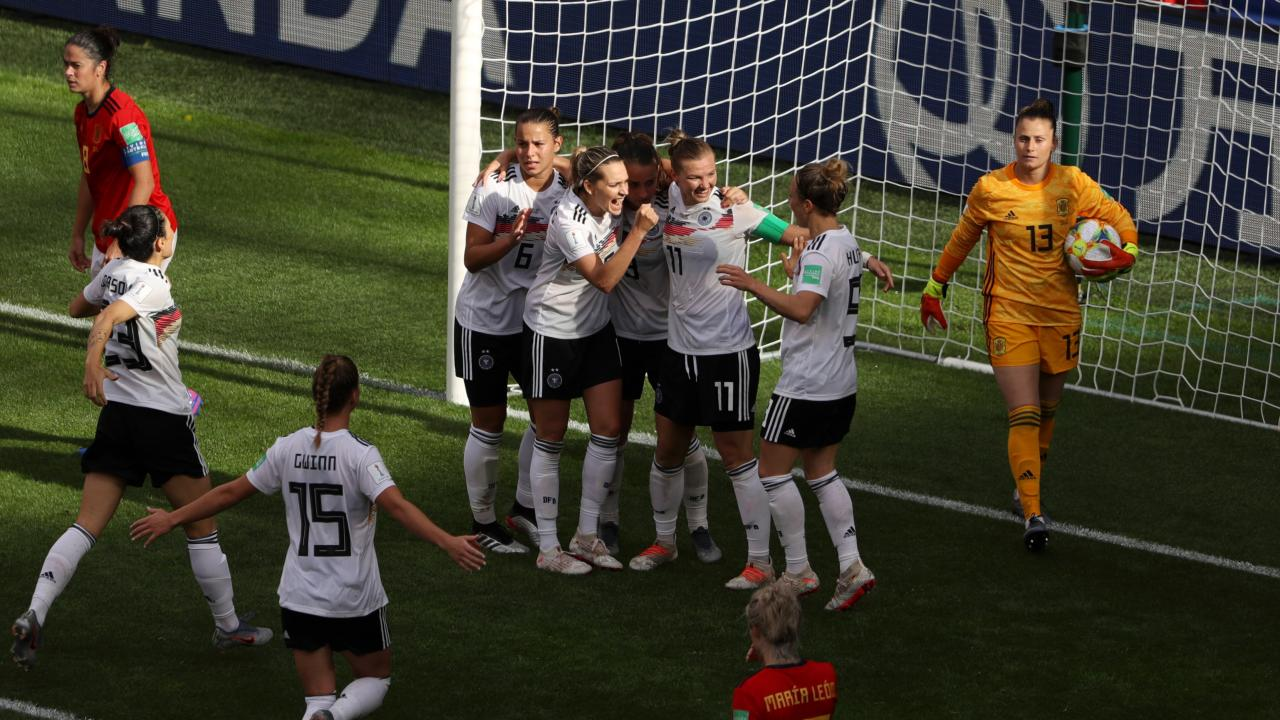 Germany vs Spain Women's World Cup highlights