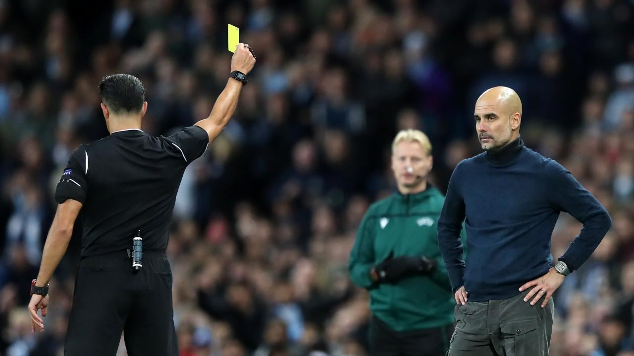 Champions League manager yellow cards