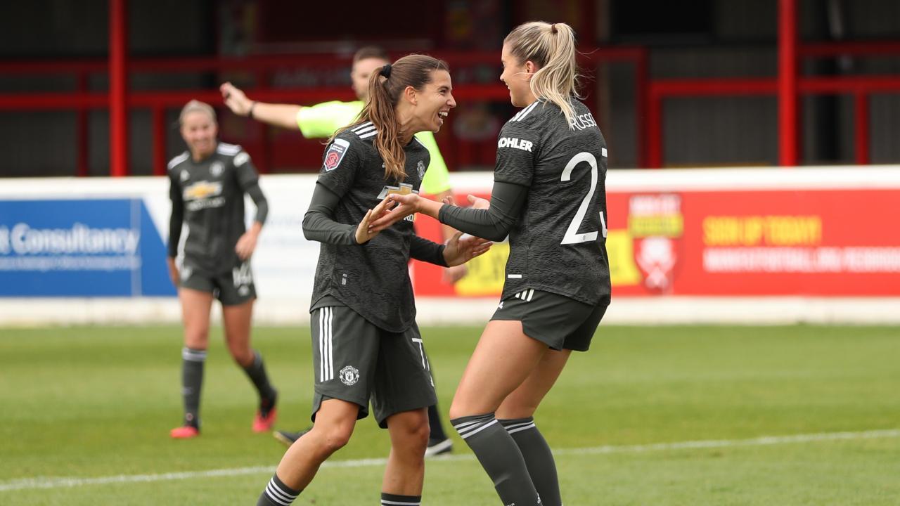 Tobin Heath celebrates her goal