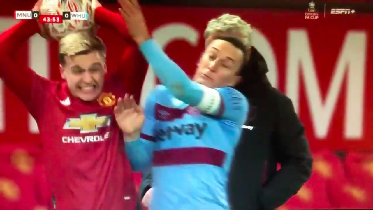 Mark Noble throw-in tackle