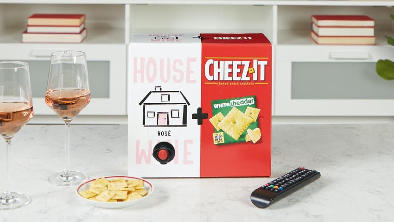 House Wine and Cheez-It Combo Box