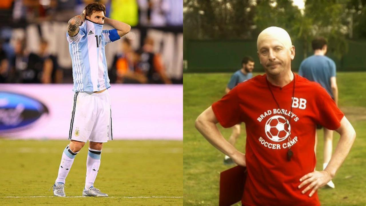 Lionel Messi and Brad Bobley