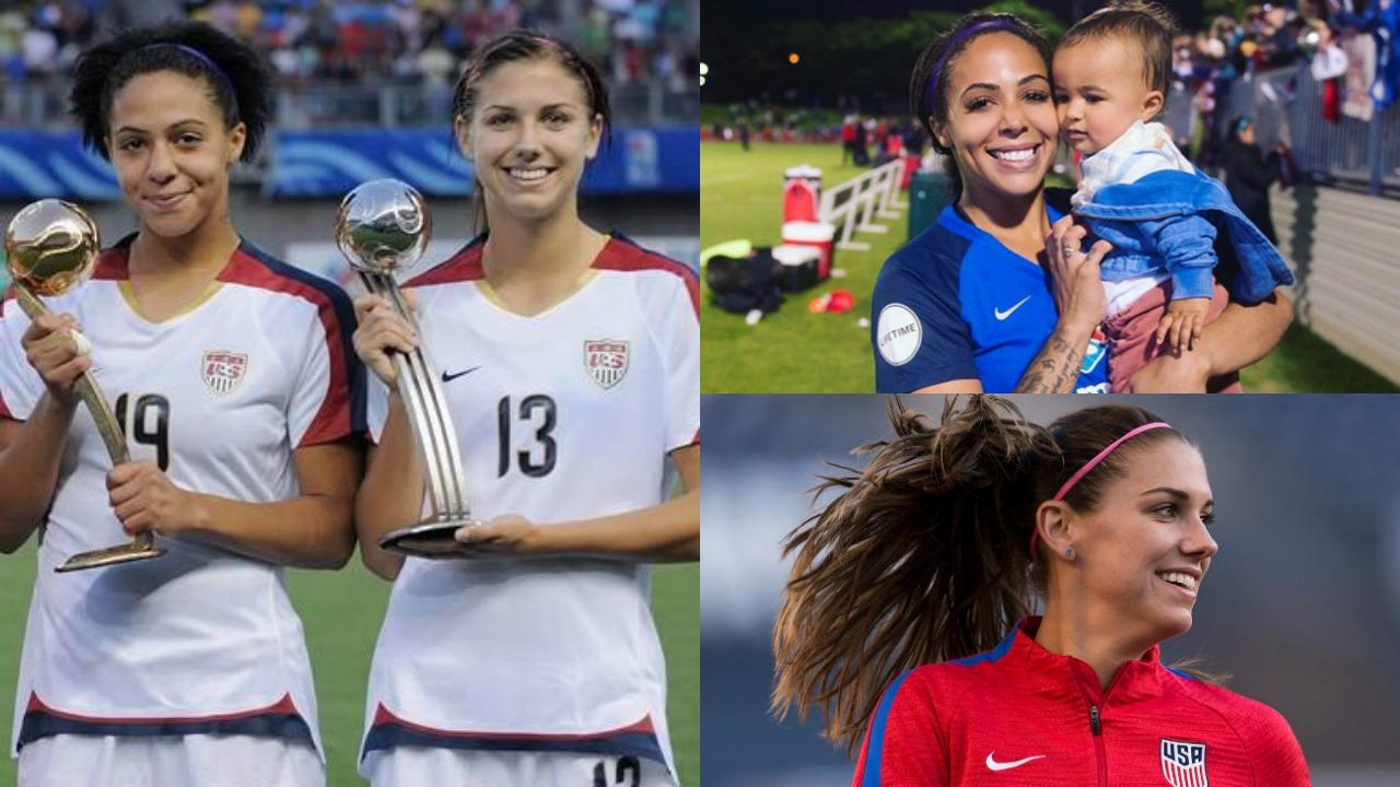Sydney Leroux and Alex Morgan
