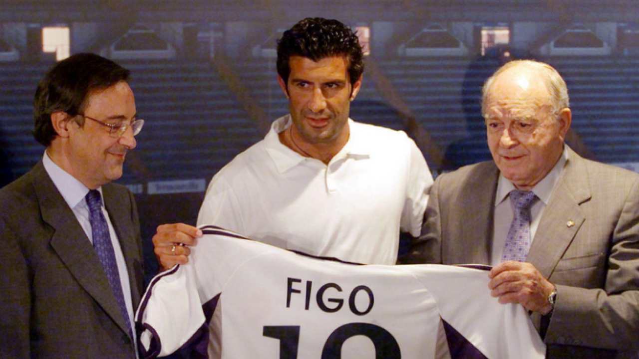 Luis Figo Transfer from Barcelona to Real Madrid