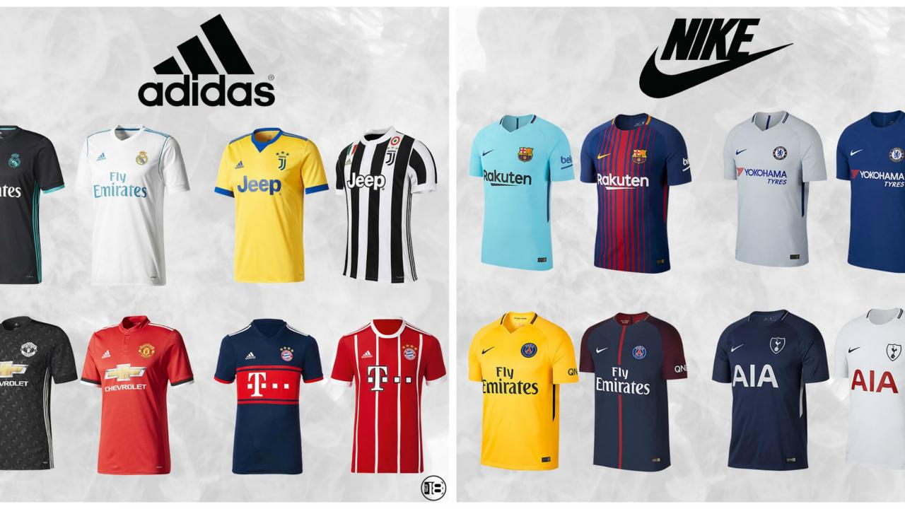 Kit Battle 2017: Nike vs. Adidas