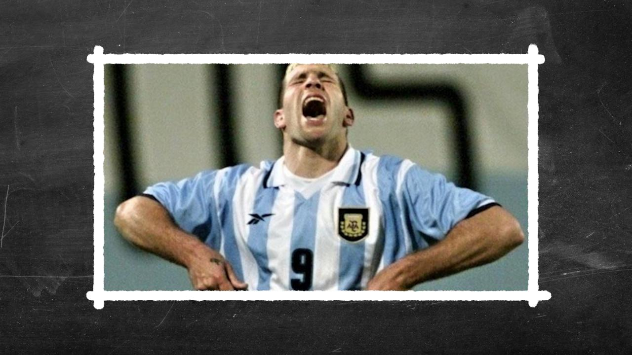 Martin Palermo missed all three penalty kicks for Argentina in their group stage match against Colombia in the 1999 Copa America