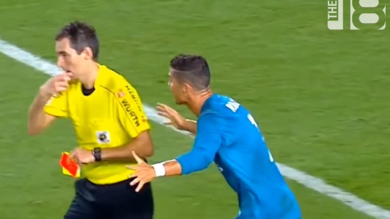 Ronaldo shocked by red card decision