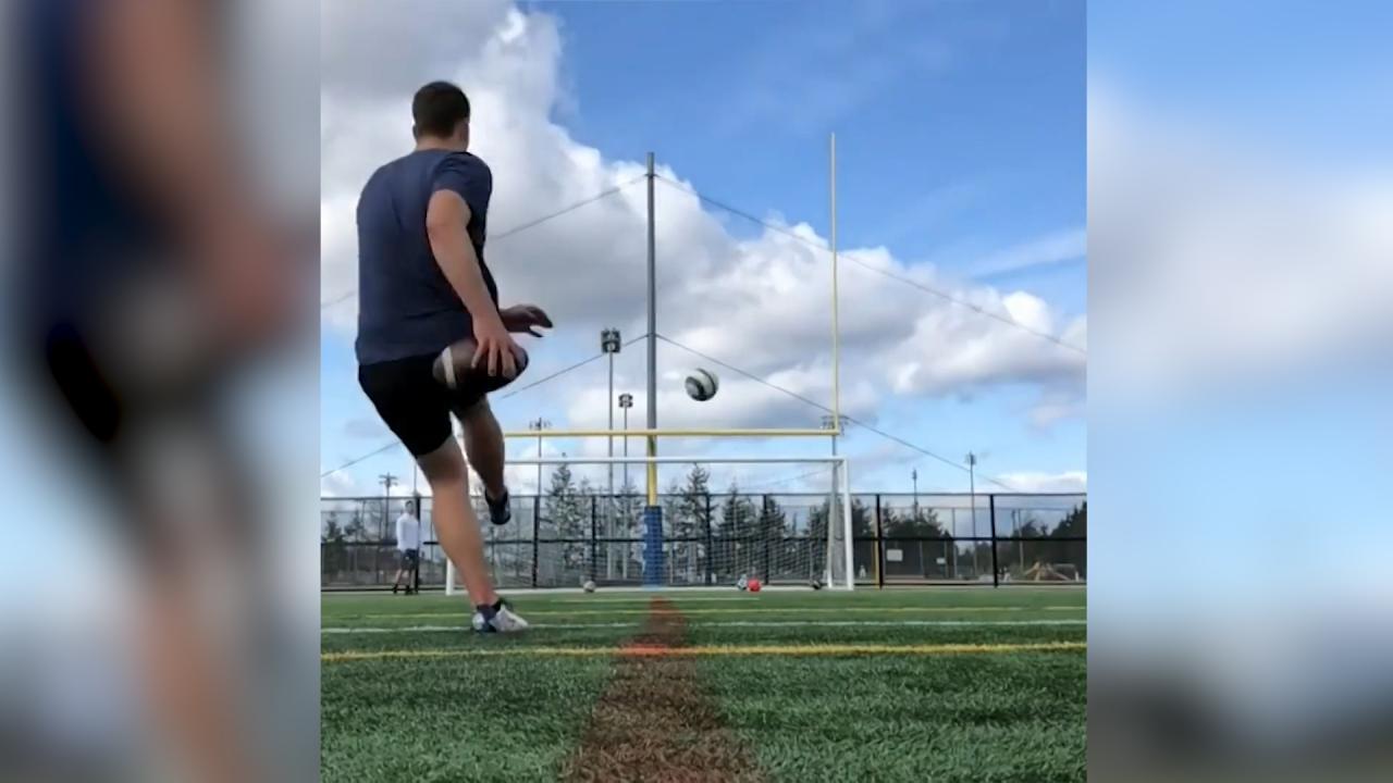 Man sets up trick shot