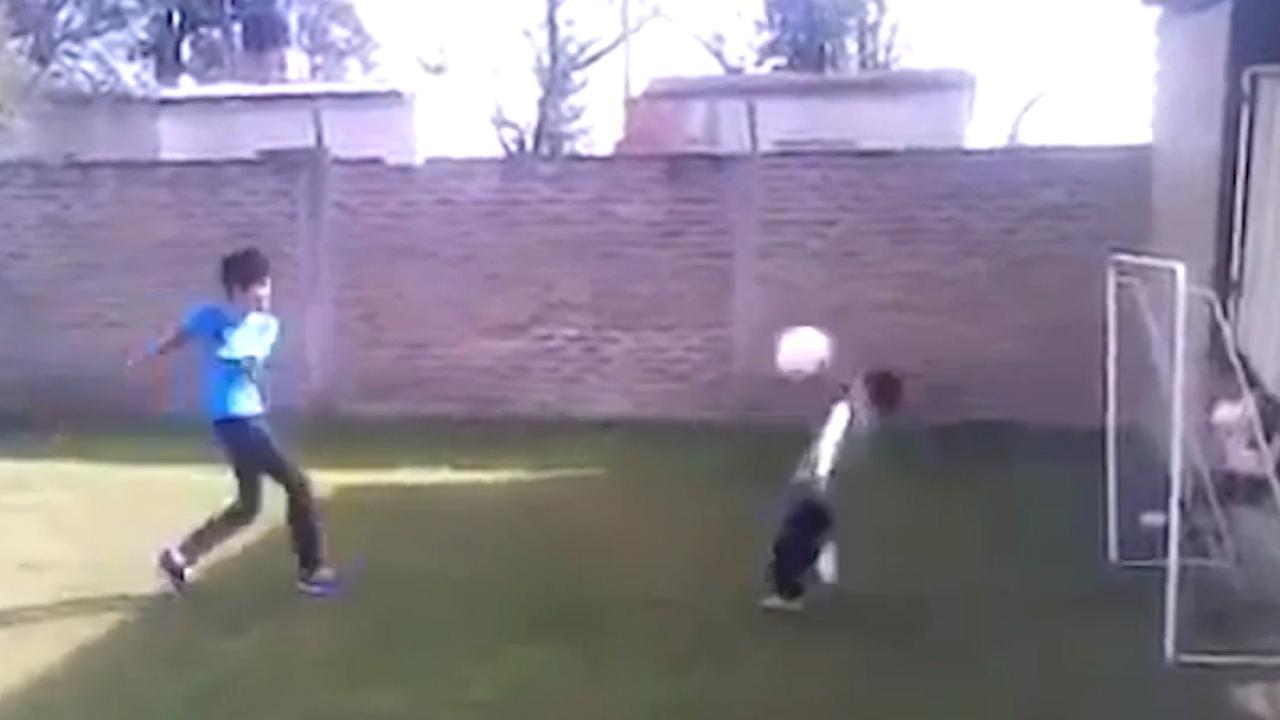 Kid Gets Hit In The Face