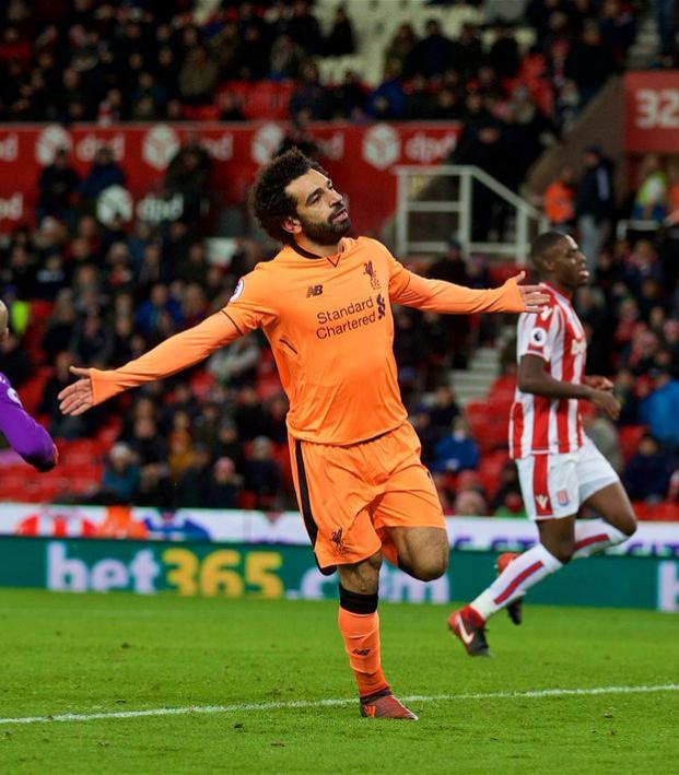 Mohamed Salah Goal Celebration vs Stoke City