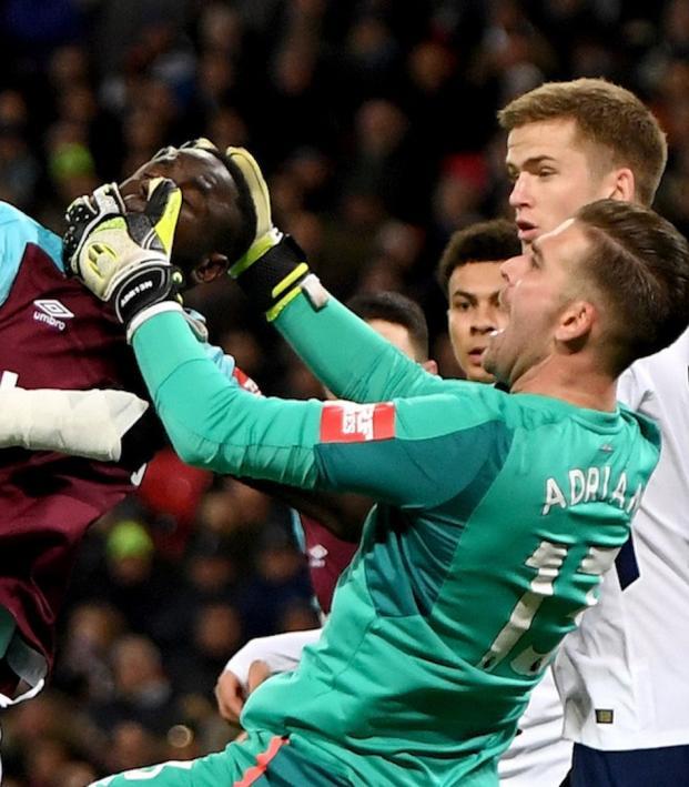 Adrian Goal Line Clearance vs Tottenham Hotspur