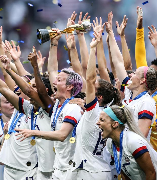 USWNT Hoists The World Cup Trophy For The 4th Time In History
