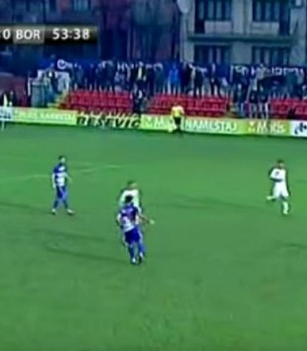 The Serbian Cup Produced The Most Violent Hit You'll Ever See