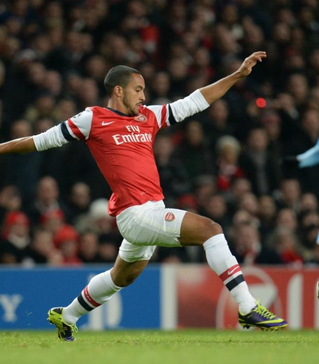 Theo Walcott has better control than Lionel Messi.