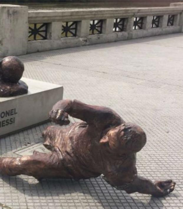 Messi Statue Vandalized
