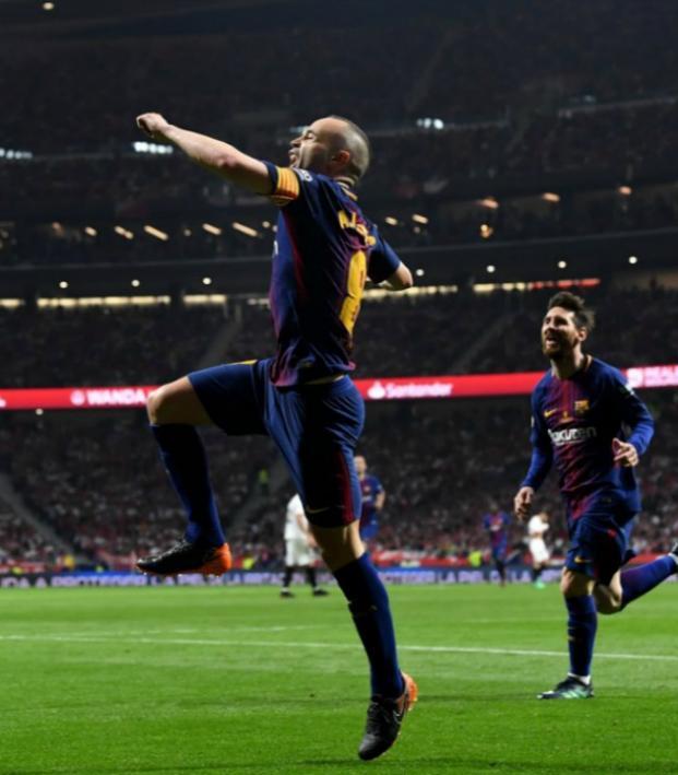 Andres Iniesta final Barcelona match