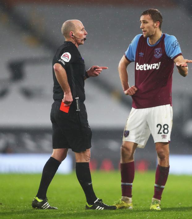 Tomáš Souček Red Card vs Fulham