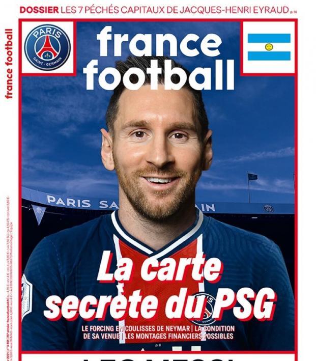 Messi on France Football