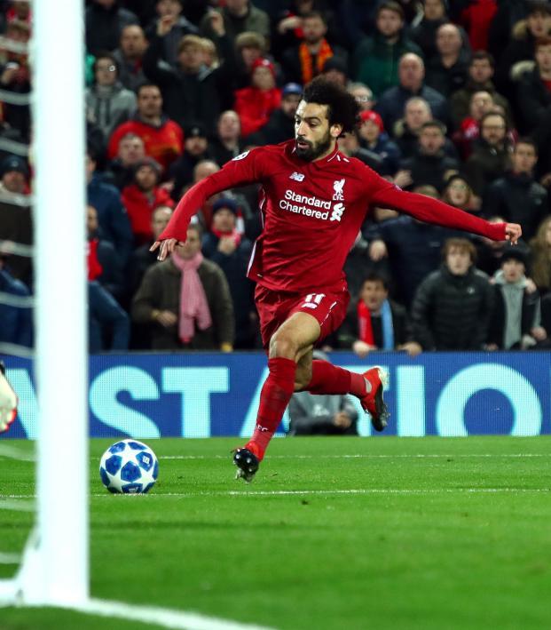 Mohamed Salah goal vs Napoli