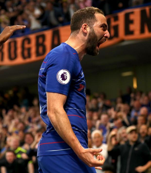 Gonzalo Higuain Chelsea goal v Burnley