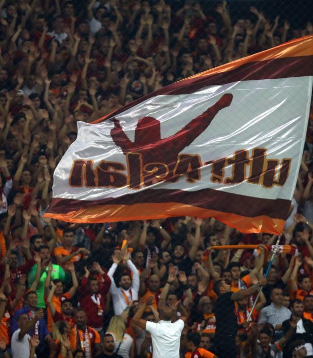 Galatasaray fans chant