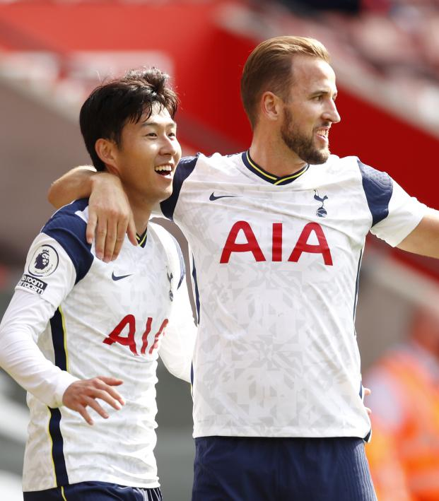 Son Heung-Min and Harry Kane