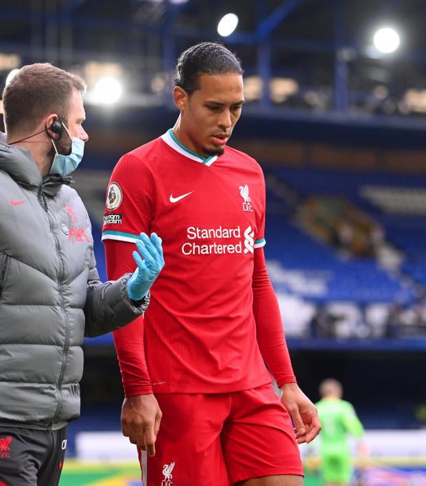 Virgil van Dijk knee injury