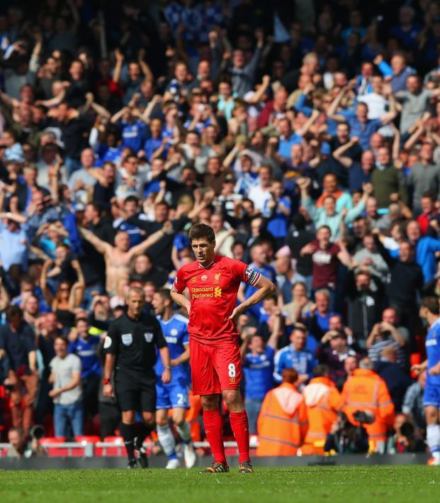 Steven Gerrard slip