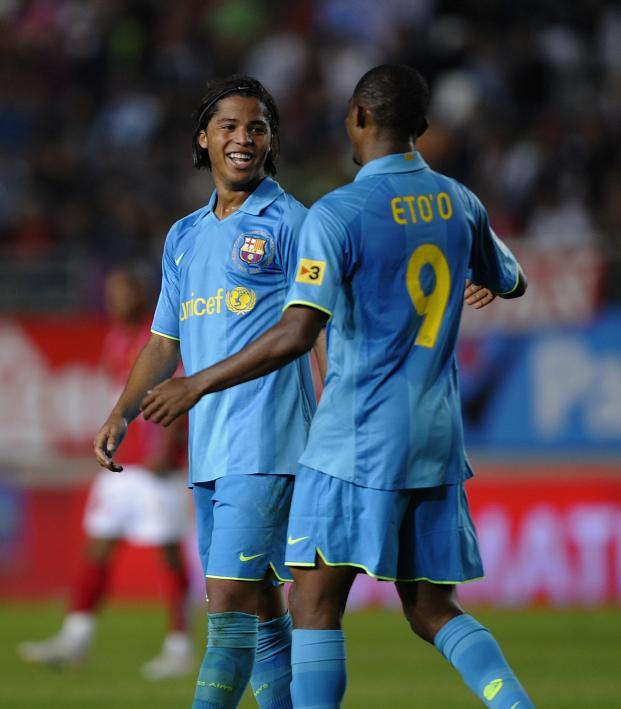 Giovani dos Santos Barcelona hat trick