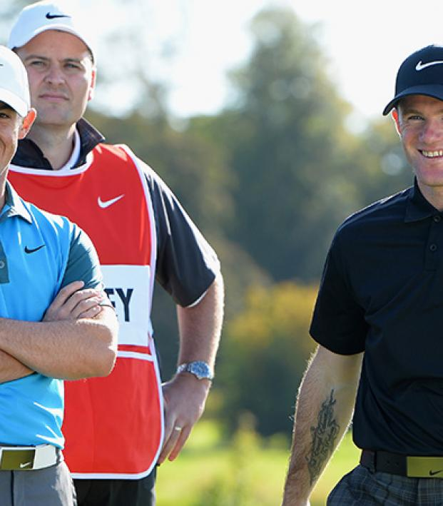 McIlroy And Rooney On Set At The Nike Commercial Shoot