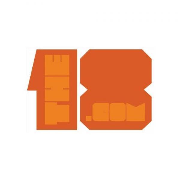 The18.com Block Sticker