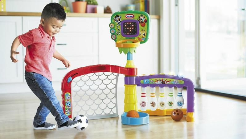 Best Soccer Gifts For Kids - Little Tikes 3-In-1 Sports Zone Baby Infant Toy