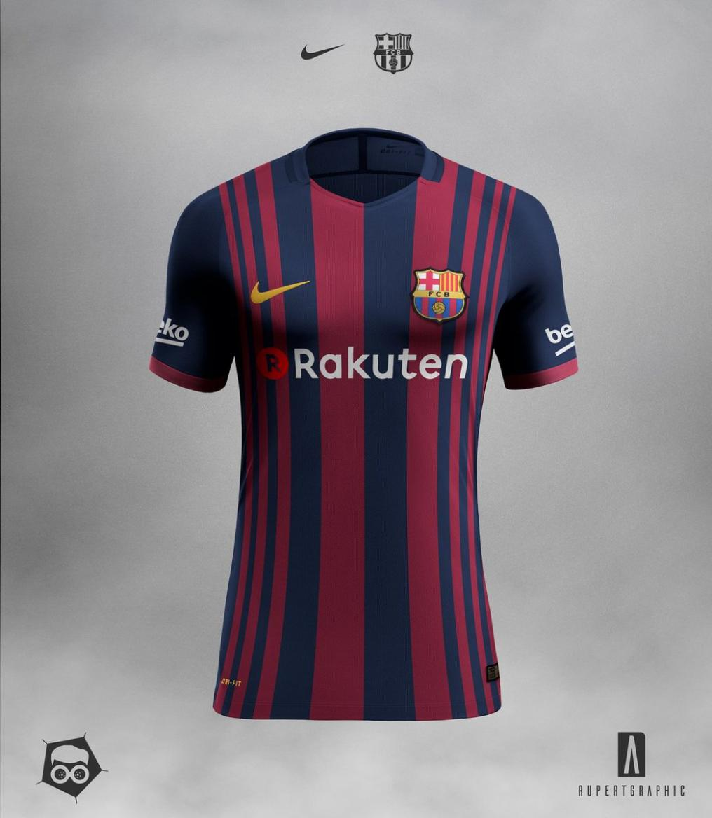 2017-18 Barcelona home kit
