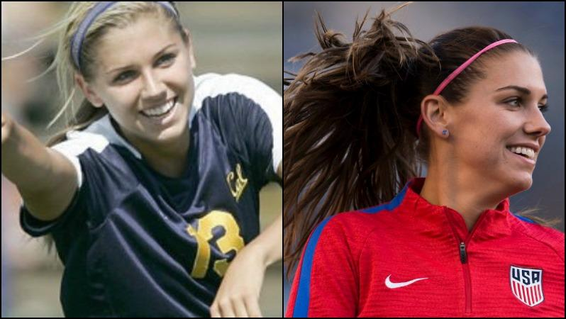 Alex Morgan: Then vs Now
