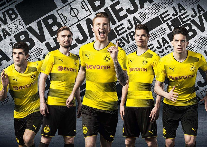 2017-18 Borussia Dortmund home kit