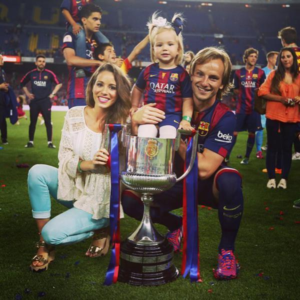 Footballers Family Photo