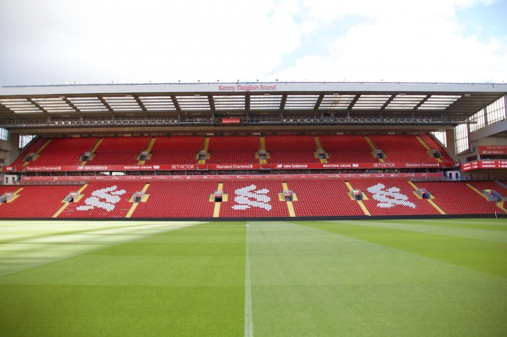 Pitch Side View: Kenny Dalglish Stand