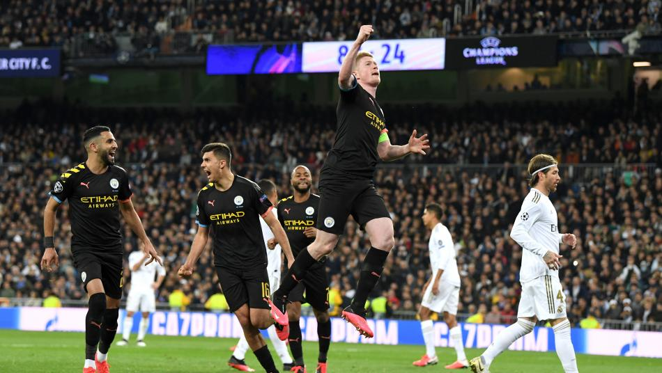 Kevin De Bruyne Celebrates His Goal Vs. Real Madrid