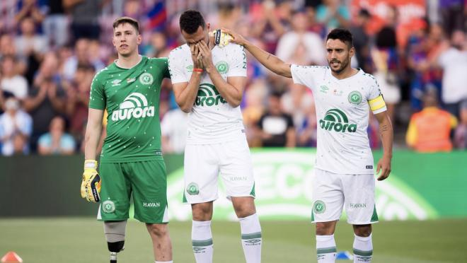 Chapecoense Players Charity Match Against FC Barcelona